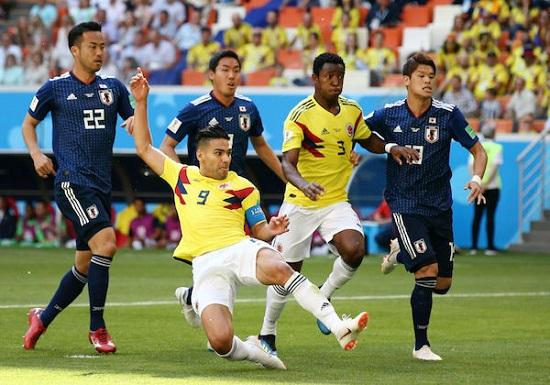 Colombia có trận thua đáng tiếc trước Nhật Bản trong ngày đầu ra quân