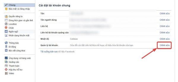 Cách khóa FB - bước 3