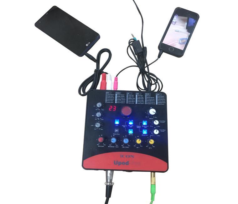 Kết nối sound card Icon Upod Pro với các thiết bị
