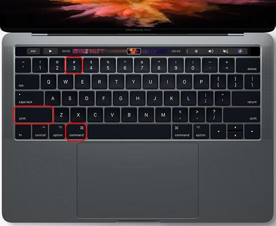 chụp ảnh màn hình bằng macbook