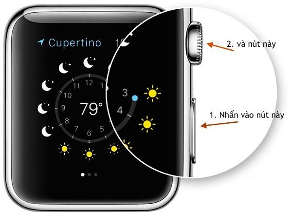 Chụp ảnh màn hình Apple Watch