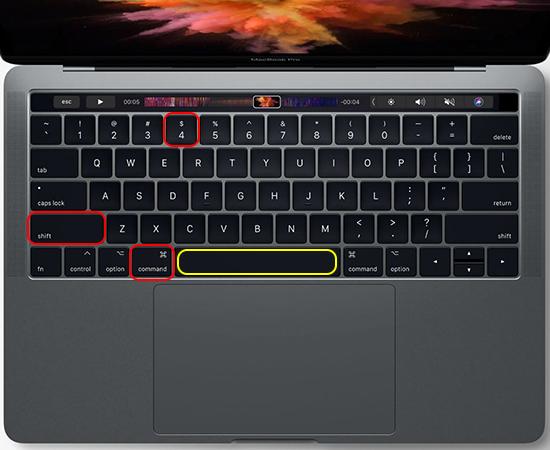 chụp ảnh màn hình trên macbook