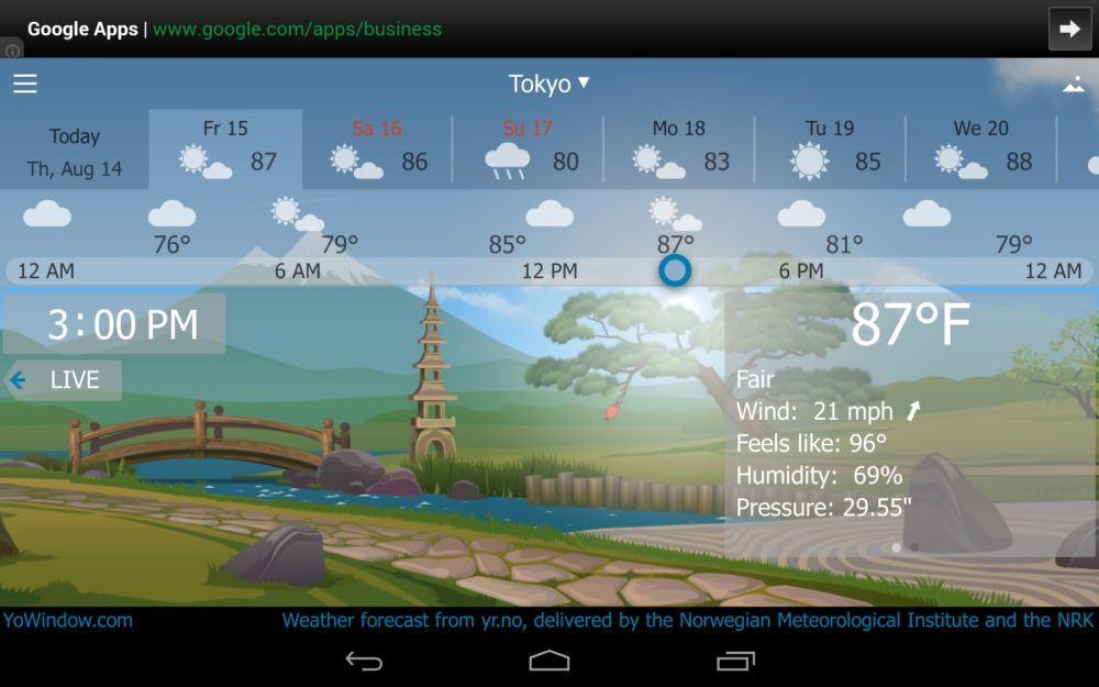 Ứng dụng dự báo thời tiết